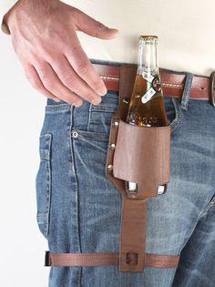 Beer Holster Bottle Holder. Gifts for Men. Gifts for Beer Lovers