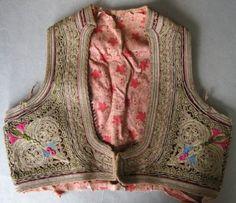 19C Original Turkish Ottoman Silver Embrodery Yelek Bodice Vest | eBay