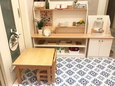 How we implement the principles of Maria Montessori in our home. Ikea Montessori, Maria Montessori, Montessori Toddler Rooms, Montessori Bedroom, Toddler Classroom, Montessori Classroom, Kids Sink, Diy Play Kitchen, Toddler Furniture