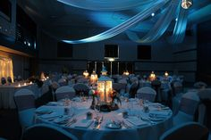 Toowoomba weddings, Highfields Cultural Centre, Blue lighting