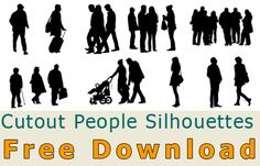 Cutout Person and People Silhouette – Free Download (Photoshop) » tonytextures.com