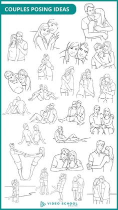 25 posing ideas for couples. These 25 poses will be perfect for your next portrait photo shoot.