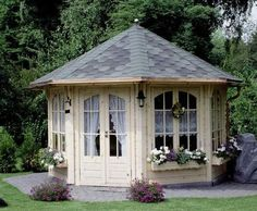 49 trendy backyard gazebo ideas she sheds Backyard Sheds, Backyard Retreat, Garden Sheds, Backyard Gazebo, Diy Gazebo, Fun Backyard, Garden Tools, Outdoor Rooms, Outdoor Living