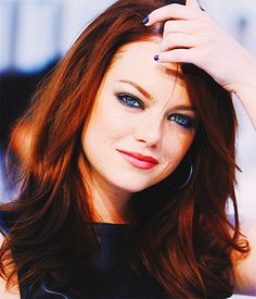 Emma Stone - I LOVE her hair and makeup in this picture! So sexy!! Her eyes just POP !!!