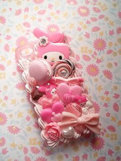 Kawaii Girl Pink My Melody Decoden Deco Case for by Lucifurious