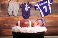 Kansas State Wildcats newborn photography by Smith and Hopper Photography. K-State.  Adorable!