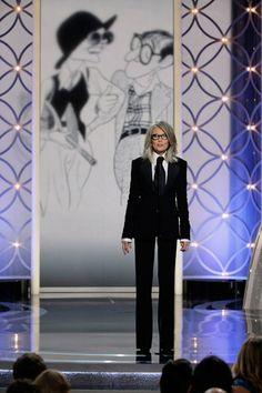 Globos de Oro 2014: Diane Keaton recogió el premio honorífico para Woody Allen