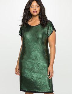 Sequin Shift Dress from eloquii.com