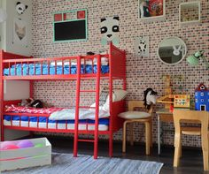 ladder, stege, tikkaat, Niemen Tehtaat, kerrossänky, bunkbed, våningssäng, finlayson, kidsroom, lastenhuone, barnrum, fisherprice, mumin, artek, skolmöbler, pulpet, pulpetti, panda, fox, posters, koulutaulu, krittavla, ikea bråkig Teen Bedroom, Kidsroom, Room Inspiration, Retro Vintage, Room Ideas, Ikea, Decorations, Babies, Furniture