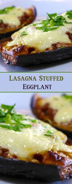 Lasagna Stuffed Eggplant. #CompleteRecipes.com #recipe #recipes #food #foodgasm #cleaneating #healthyfood #healthy #healthyrecipes
