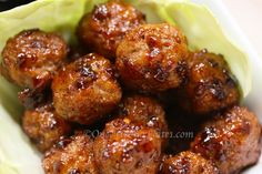 Healthy Turkey Mini Meatballs with Honey Chipotle Glaze