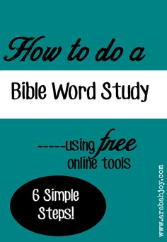 6 Must have Bible Study tools - YouTube