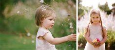 The children caught naturally on film in the wild flower gardens of gaynes park