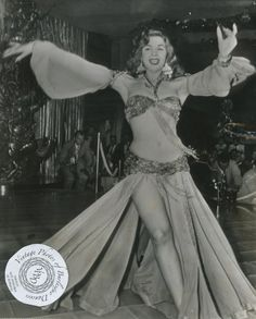 Samia Gamal: photo dated 4 March 1952. This photo shows Egyptian belly-dancer…