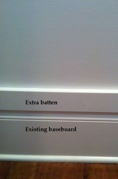Board and Batten - way to get around thinner baseboard