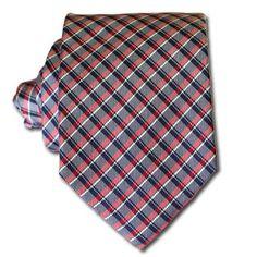 Red & Grey Tartan Tie