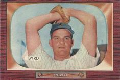 1955 Bowman #159 Harry Byrd Front
