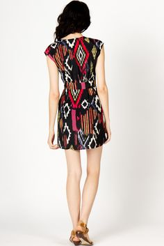 Ikat Front Tie Dress | a-thread  $69