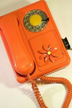 Retro Orange Dial Telephone and One Retro by MyTootlingTootie Mellow Yellow, Orange Yellow, Orange Color, Orange Zest, Orange Aesthetic, Aesthetic Colors, Retro Aesthetic, Orange Phone, Love Vintage