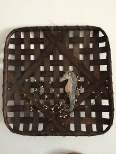 17x17 Square Tobacco Basket by OneOfAKindBaskets on Etsy