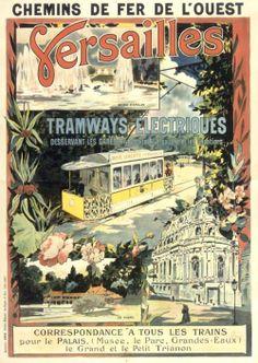 Versailles - Tramways electriques, 1899.