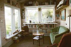 Shelves balance the window space