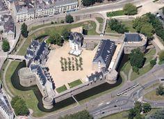Château des ducs de Bretagne, build in 1466 in Nantes, France