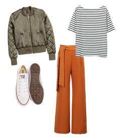 """""""sporty dressy"""" by megangordon on Polyvore featuring Converse and WithChic"""