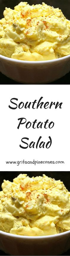 Easter Dinner wouldn't be the same without a tasty helping of potato salad, and this recipe for classic Southern Potato Salad is perfect! via @http://www.pinterest.com/gritspinecones/