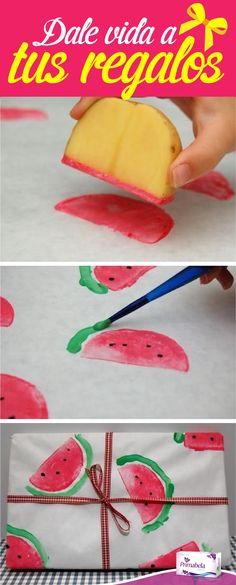 Dale tu propio look a los regalos para tus familiares o amigas. #Gift #Look #Watermelon #Primabela                                                                                                                                                                                 More