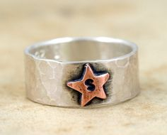super adorable personalized star ring! by monkeysalwayslook on etsy.