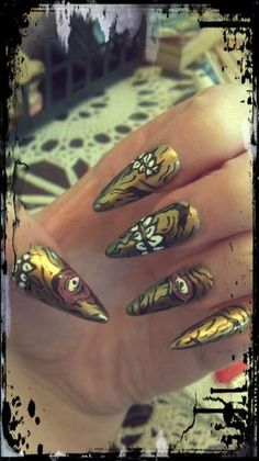 Zombie nails by Cindy Johnson
