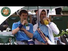 Tennis Star Novak Djokovic Hangs Around With The Ball Boy - #funny #awesome #NovakDjokovic