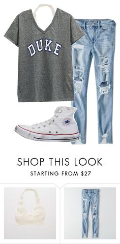 """""""I thought Duke was going to win March Madness...."""" by lorla3407 on Polyvore featuring Aerie, American Eagle Outfitters and Converse"""