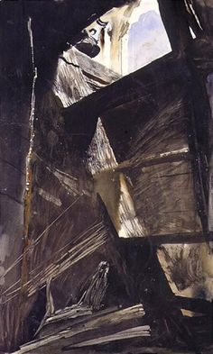 Andrew Wyeth, toll rope study-2