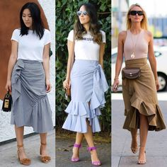 Styling ideas to make your wardrobe up-to-date – Just Trendy Girls Trendy Outfits, Trendy Fashion, Summer Outfits, Womens Fashion, Tartan Clothing, Skirt Fashion, Fashion Outfits, Asymmetrical Skirt, Summer Skirts