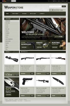 Online Store/Shop #Military #Most Popular #osCommerce Templates #Wide Templates…