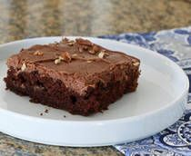 Texas Sheet Cake: A delicious Texas sheet cake with chocolate frosting. Scroll down to see more chocolate cake recipes. Note: The frosting is a little scant for a larger sheet cake, so do feel free to double the frosting, and add more milk, as needed. It should be almost thin enough to pour onto the cake. It will firm as it cools [click for recipe]