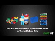 Akro Bins from Monster Bins.  Watch this video to learn all about each style of Akro Bins that Monster Bins carries.  When done watching the video, purchase your Akro Bins here: http://monsterbins.com/akro-bins