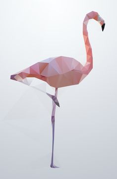 Flamingo Art Print by Three Of The Possessed | Society6