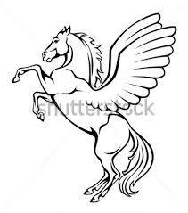 Resultado de imagem para cavalo alado desenho