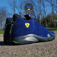 Custom using our blue suede dye to achieve this rich color. Dyed from red to blue. #angelusbrand #shoedye #blue #jordan #diy