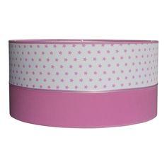 Hanglamp met sterretjes in roze. Licht roze lamp lampenkap kinderlamp ...
