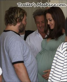 Pregnant Angelina Jolie with Jack Black and Dustin Hoffman