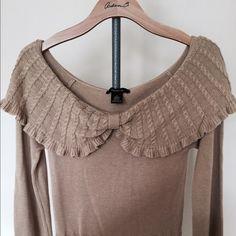 Tan long sleeve sweater, never worn Long sleeve sweater Arden B Sweaters Crew & Scoop Necks