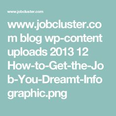 www.jobcluster.com blog wp-content uploads 2013 12 How-to-Get-the-Job-You-Dreamt-Infographic.png