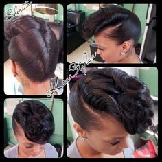 Retro updo To learn how to grow your hair longer click here - http://blackhair.cc/1jSY2ux