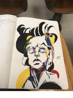 Pen, ink, and marker illustration Eva H-E