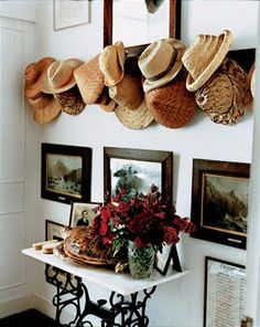 Decorating with Straw Hats - Design Chic