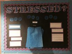 Stressed? Bubble wrap RA bulletin board